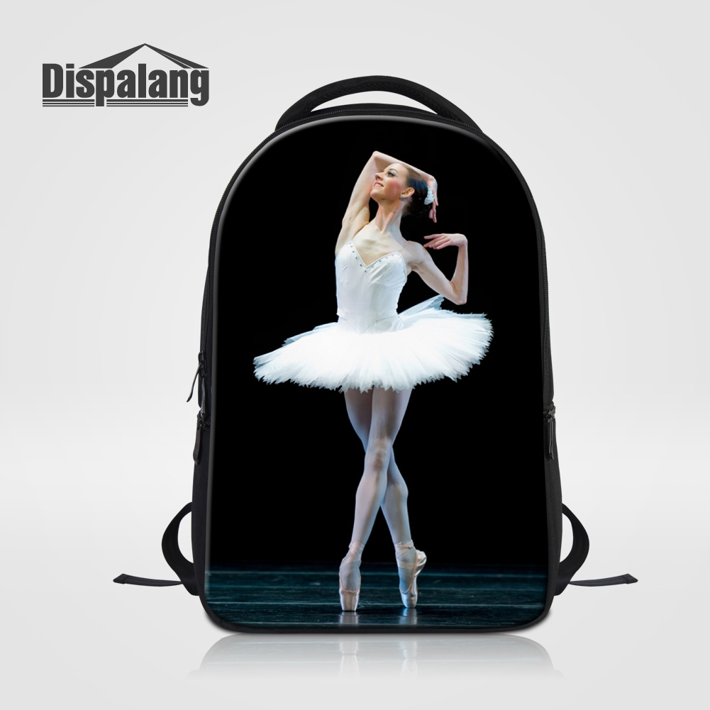 Dispalang Preppy Style Women Backpack College Student School Bookbag Female Laptop Bag Ballet Dancing Girl Ladies Travel Bagpack<br>