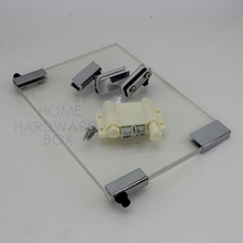 pivot hinge magnet double door catch swing glass clamp bracket cabinet push open