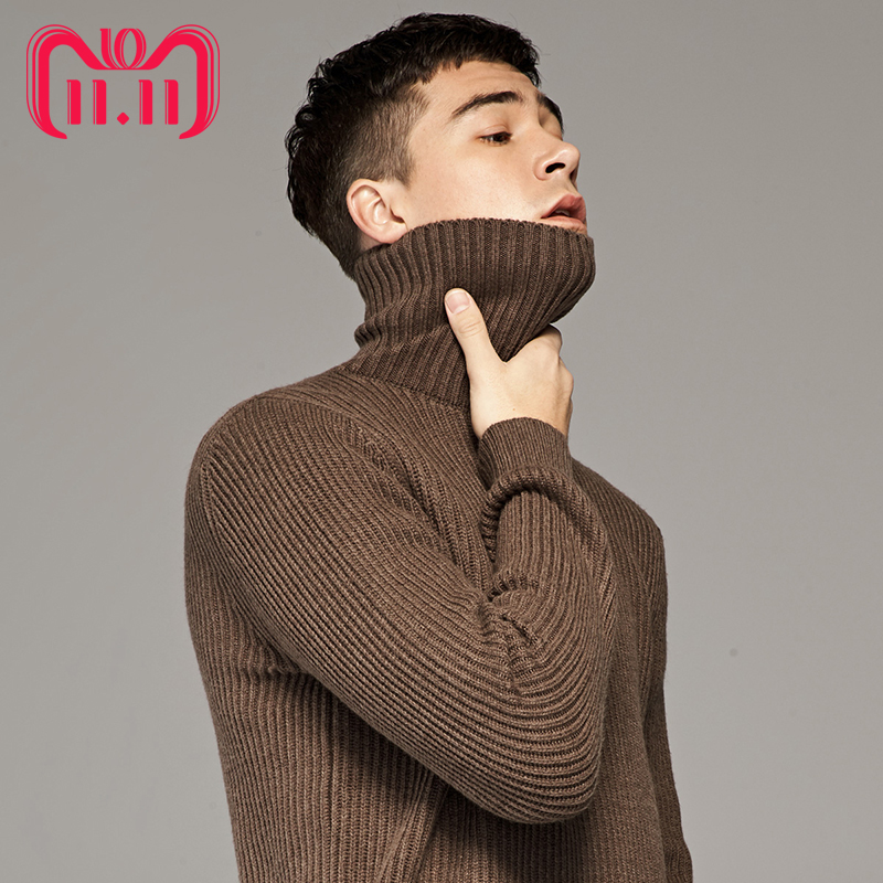 11.11 Global Shopping Festival Woolen Sweater Men Winter Thicken Turtle Neck Cashmere Sweaters Pullover Male Thermal Underwear