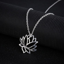 XUANRAN gold/silver color new design hollow lotus necklace chain fashion Neck Accessories Fashion Jewelry for women