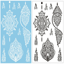 2pc/set New Lace Black White Henna Tattoo Sticker Beautiful Flower Totem Designs Brand Temporary Tattoo Body Art for Women