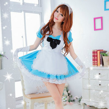 2016 Lolita Princess Maid Dress Fancy Apron Dress Maid Outfits Meidofuku Uniform Cosplay Costume 60015