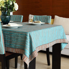 Europe Style Popular Chenille Retro Striped Table Cloth Rectangular Table Cloth Dust proof Bar Restaurant Table Cover