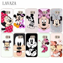 291e Minnie cartoon Hard Transparent Phone Cases Cover for samsung Galaxy S2 S3 S4 S5 & Mini S6 S7 S8 & Edge Plus