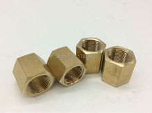 "free shipping 5pcs opper pipe fitting3/8"" female connector, plumbing copper fittings,brass fitting, Internal threads connector"
