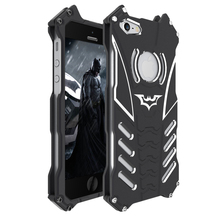 I5 R-Just Batman Mobile Phone case Aluminum Metal Armor cover for Apple iPhone 5 / 5s / 5c / SE with R Just Medal Holder bracket