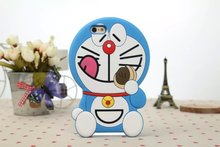 for Iphone5 5s Case Hot Super 3D Silicon rubber soft Doraemon Cartoon Cell Phone Back Skin Cover for Iphone5 5s