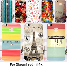 TAOYUNXI Cases Cover For Xiaomi Redmi 4X 5.0 inch Bags Skin Hard Plastic Soft TPU Cell Phone Flowers Painted Sheaths