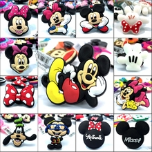 New Arrival 1pcs Mickey Minnie High Imitation Shoe Charms,Shoe Buckles Accessories Fit for Croc JIBZ kids gifts