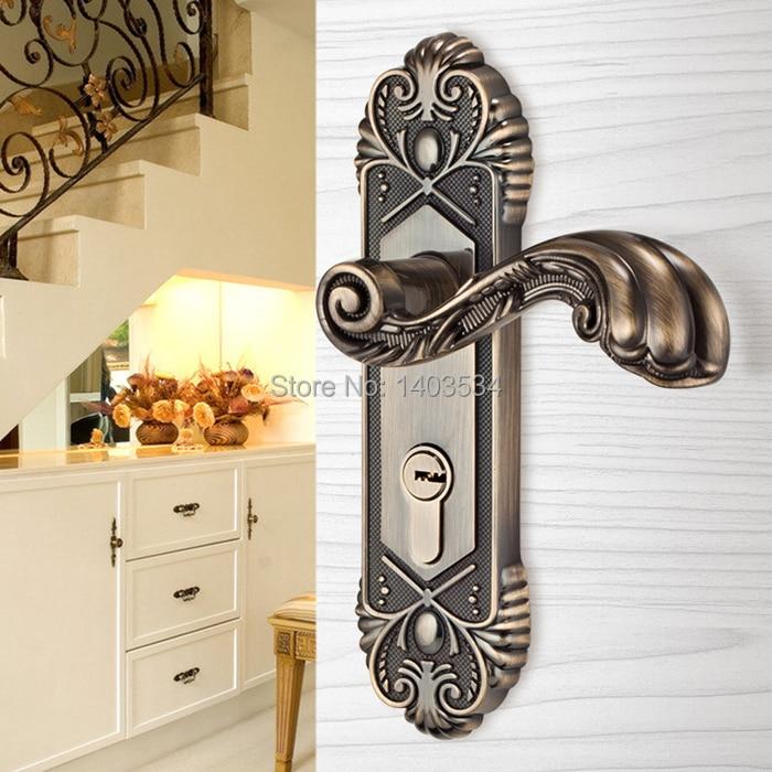 European antique brass Bedroom door locks Wooden doors lock indoor door locks kitchen bathroom door lock<br><br>Aliexpress