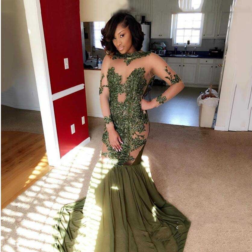 Buy olive green dress prom and get free shipping on AliExpress.com bf37f8421782