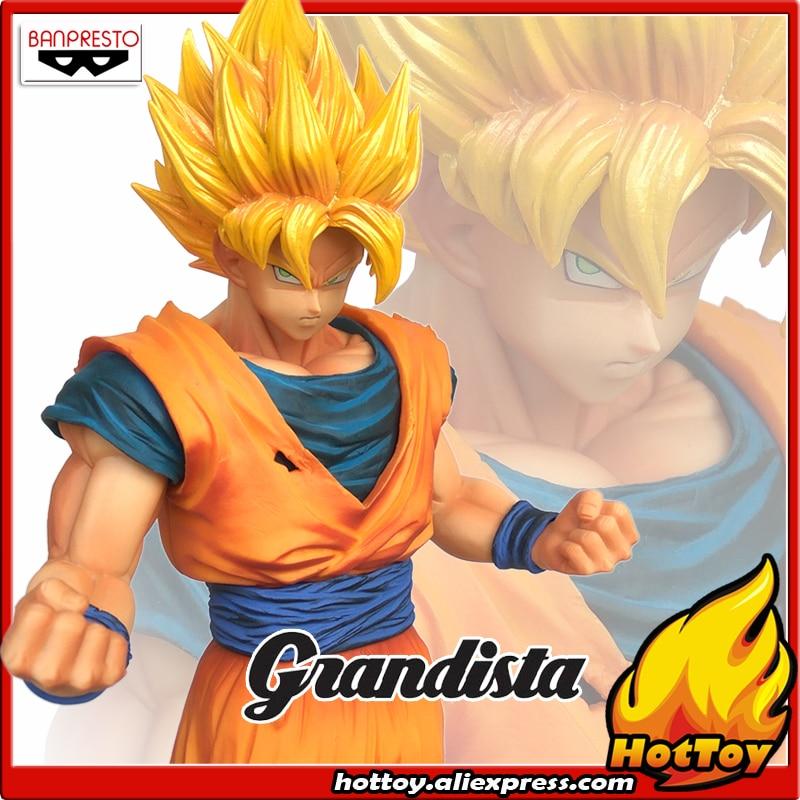 Sale Original Banpresto ROS Resolution of Soldiers Grandista Collection Figure Super Saiyan Son Goku Gokou Dragon Ball Z 28cm<br>