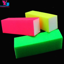 Free Shipping 100pcs/lot Buffing Sanding Nail Buffer Block Fluorescent Color Nail Art diagnostic-tool Sand Surface Sponge Blocks(China)