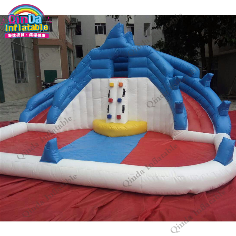 inflatable water slide with pool95