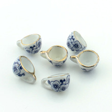 mini ceramics porcelain dice cup flagon Teapot Plate diy earrings chain beads 20pcs/lot Free shipping(China)
