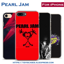 Pearl Jam Rock band Coque Mobile Phone Case Cover Shell Bag For Apple iPhone X 8Plus 8 7Plus 7 6sPlus 6s 6Plus 6 5 5S SE 4S 4(China)