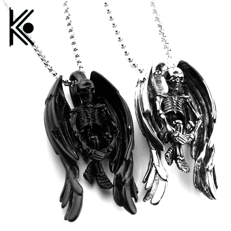 Bloody White Skeleton Skull Hand Chain Bone Claw Punk Necklace Jewelry Gift