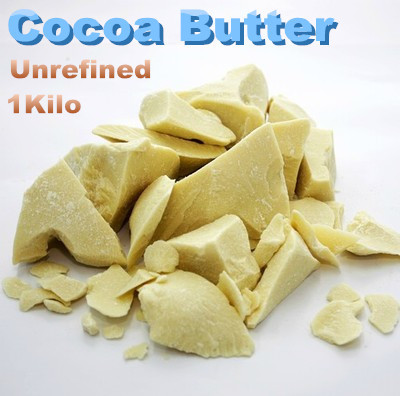 Pure Raw Natural Cocoa Butter  Unrefined 1000g<br>