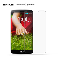Baixin 0.26mm 2.5D Premium Tempered Glass For LG G2 D802  Screen Protector Screen for LG G2 Anti-Shatter Protector Film