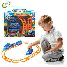 Electrical Thomas Train 3 parts Rail Train 8 Pcs Railway Track Slot Running FUNNY Toy for Child Build Kid family fun GYH(China)