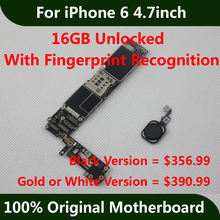 Full Function 16GB 100% Original Motherboard For iPhone 6 4.7inch Unlocked Mainboard With Touch ID 100% Good Working Logic Board
