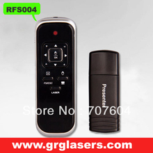 Wholesale 2.4GHz RF Wireless Presenter with Laser Pointer and 360 degree mouse for PC/Laptop Black ,Free shipping