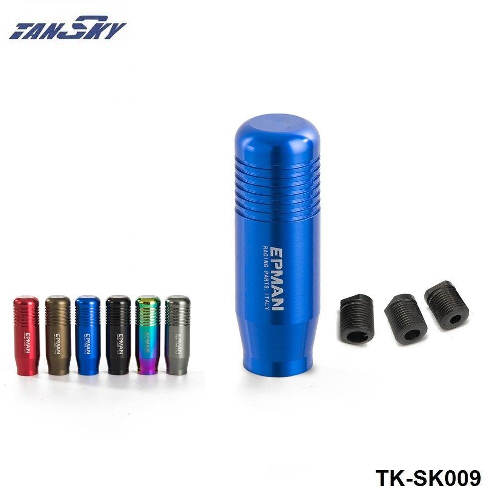 EPMAN-Azul Universal Aluminio Transmisión Manual Gear Knob palo Cambio