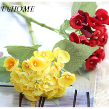 Artificial hydrangea silk flowers real touch muti-colors for wedding bride bouquet diy arrangements home decoration bulk cheap