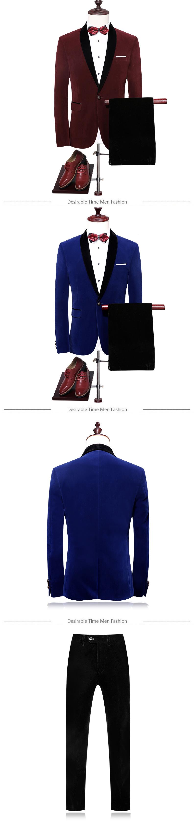 HTB1PIDARFXXXXchaXXXq6xXFXXXA - Royal Blue Mens Wedding Tuxedo Suit M-4XL Autumn High Quality Shawl Lapel Slim Fit Velvet Men Red Prom Suits DT059