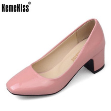 Buy KemeKiss Size 32-45 Women Concise Pumps Square Toe High Heels Shoes Solid Office Lady Thick Heel Pump Party Wedding Footwears for $24.94 in AliExpress store