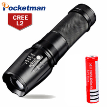 4000 Lumens LED Flashlight CREE L2 Lampe Torche Zoomable 5Mode Led Torch 18650 AAA Zaklamp Torcia lanterna Hunting - POCKETMANhongtao Store store