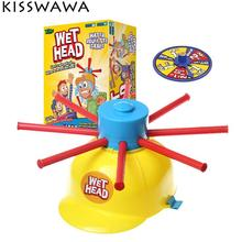 KISSWAWA Wet Head Hat Water Game Challenge Wet Jokes Funny Roulette Game Toys Gags Practical Jokes For Children Kids