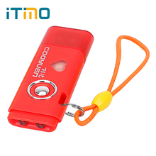 ITimo Pocket Lamp Torch UV Light USB Rechargeable Flash Bike light with Keychain SOS Mini 2 LED Flashlight for Checker Cash(China)