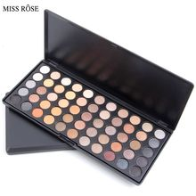 MISS ROSE Nude makeup eyeshadow palette 55 Ultra Shimmer Warm Cool Palette Eyeshadow palette Eye Shadow Makeup palette Cosmetic(China)