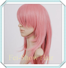 Anime Wig Synthetic Fashion Women Long Afro Kinky Wavy Pink Hair Wig Salon Party Harajuku Cosplay Anime Wig