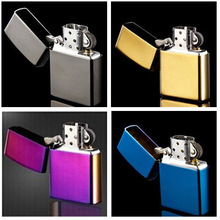 100pcs/lot High Quality Brand cigarette Lighters Metal Refillable Oil Windproof  Lighter Fashion oil grinding wheel lighters
