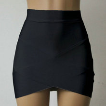 Selling Hot Women Cross Straps Tight Skirts Asymmetrical Hem Clubwear Slim Pencil Mini Skirt