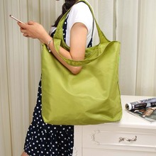 Grocery Storage Bag Handbag Clothes Nylon Portable Folding Shopping Bag Travel Sports  Luggage Shoes Book Make up Bag