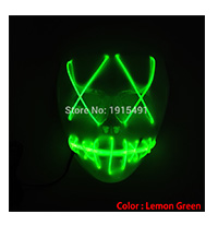 Free Shipping Bi-Colors Flickering Led Bulbs Neon Glasses EL Cold Light Halloween Eyewear Glowing Party Decoration with 3V Drive