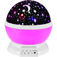 Brand New Romantic Kids Rotating Star Sky Night Night Projector Light Lamp Star Projector with High Quality Kids Night Light(China)
