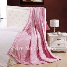 Best-Quality Free Shipping Pink King Or Make Any Size 2.42bl or 1100g 100% Mulberry Silk Filled Duvet Quilt Comforter(China)