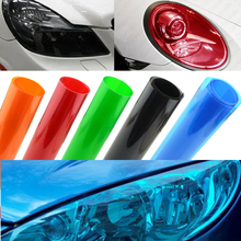 Car Styling 30x100cm Car Light Headlight Taillight Tint Vinyl Film Sticker Lamp Stickers Brake Light Exterior Accessories