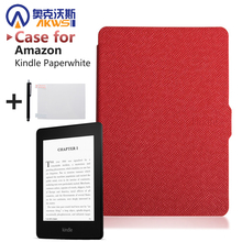 Slim Fashion Cover For Amazon Kindle Paperwhite Case 6'' Ereader  Leather case for Kindle Paperwhite Cover 2015 E-book +film+pen