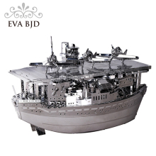 3D Model Akagi aircraft carrier Metal 3D Puzzle Military Ship Model Building Kits Children DIY Assembly Jigsaw C0005