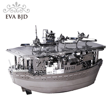 3D Model Akagi aircraft carrier Metal 3D Puzzle Military Ship Model Building Kits Children DIY Assembly Jigsaw C0005(China)