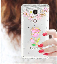 Fashional Bling Cartoon Diamond Cell Phone Case Shell For Huawei Honor 5C,Rhinesonte Style Mobile Phone Case For Huawei Honor 5C