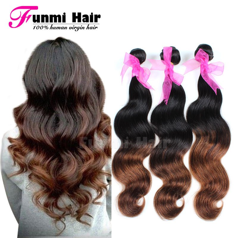 Top 8A Peruvian Virgin Hair Body Wave Two Tone Ombre Hair Extensions Unprocessed 4 Bundles Peruvian Body Wave Virgin Remy Hair<br><br>Aliexpress