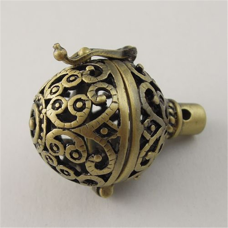 GraceAngie 3PCS Antique Style Bronze Tone Jewelry Hollow Prayer Boxes Pendant Finding 27*22MM (03744)(China (Mainland))