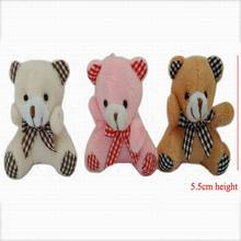 "20pcs x 5.5cm(2.2"") Miniature Tiny Small Sitting Teddy bear With Bow for craft,Doll's House,Mobile Phone Or Handbag Charm"