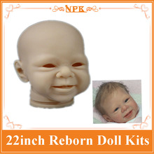 Best Price Reborn Baby Doll Kits Made By Soft Silicone Vinyl Fit For 22inch Reborn Doll , FIt For 20mm Eyes Hot Doll Accessories(China)